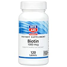 Rite Aid Biotin Tablets, 1000 Mcg 120 Ct.