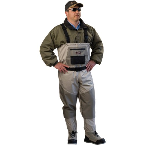 Caddis Wading Systems Caddis Men's Attractive 2-Tone Tauped Deluxe Breathable Stocking Foot Wader, Medium