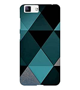 EPICCASE Blue Diamond Pattern Mobile Back Case Cover For Vivo X5 (Designer Case)