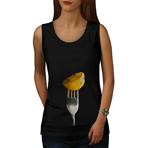 Roast Cooked Potatoe Photography Women NEW Black XL Tank Top | Wellcoda (Roast Potatoes Recipe compare prices)