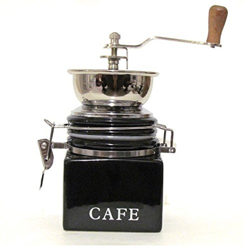 Best Prices! CoffeeWerks Vintage Cafe Manual Ceramic Burr Coffee Grinder (Black)