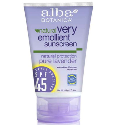 alba-botanica-very-emollient-sunblock-natural-protection-with-organic-lavender-spf-45-113-g-4-oz