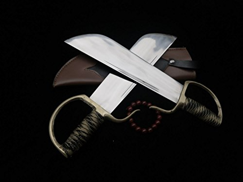 Chinese Kung Fu/Wing Chun Bart Cham Dao/Stainless steel blade/Leather Scabbard/Copper fitted