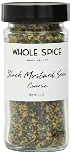 Whole Spice Mustard Seed Black Coarse Ground Jar, 2.2 Ounce