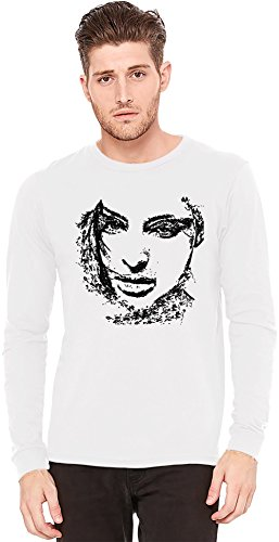 Woman Portrait A maniche lunghe T-shirt Long-Sleeve T-shirt | 100% Preshrunk Jersey Cotton X-Large