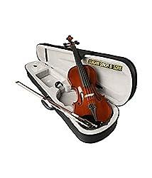 Surjan Singh & Sons, MV001 - 4 Strings, Violin, Right Handed, Brown, With Case
