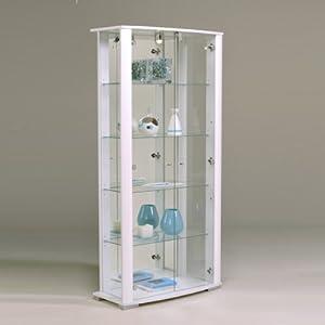 parisot vitrine ella wei hochglanz k che. Black Bedroom Furniture Sets. Home Design Ideas
