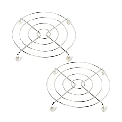 Embassy Stainless Steel Trivet / Table Ring, Round, Size Big (23 cms) - Pack of 2