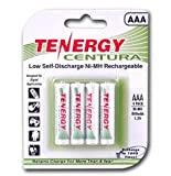 Tenergy Centura AAA Low Self-Discharge (LSD) NiMH Rechargeable Batteries, 1 Card 4xAAA