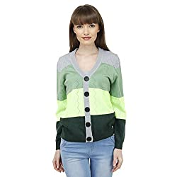 Camey Women Winter Cardigan Printed Woolen Top