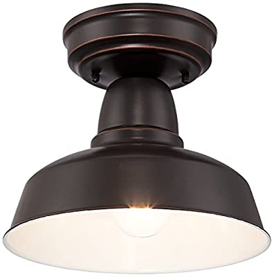 """Urban Barn Collection 10 1/4""""W Bronze Outdoor Ceiling Light"""