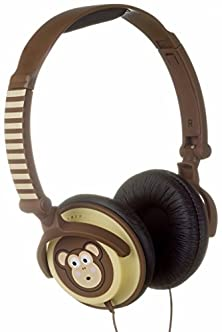 buy Kitsound Doodle Children'S Character 85Db Volume Limiting On-Ear Headphones - Monkey