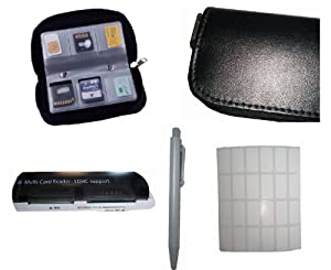 FashionBoutique Memory card carrying case set - 24PCS card label + ONE Mini ballpoint pen + ONE Multi-Card Reader-SDHC support by FashionBoutique