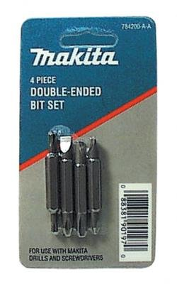 Makita 784200-A-A 4Pc Double Ended Bit Set
