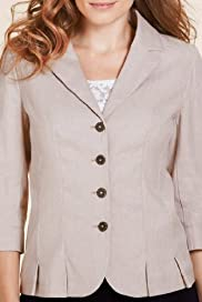 Per Una Linen Blend Pleated Jacket [T62-6010G-S]