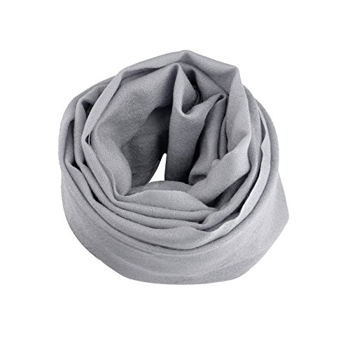 Smartodoors Cashmere scarf wrap shawls for ladies and women in Gray