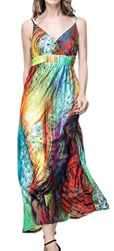 Women Draped Overlap Bodice Ruched Maxi Dress Smocked Waist Caftan Dress Garment Size 5XL,Multicolor,22/24 Plus