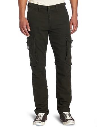 Dockers Men's Scout Cargo Slim Tapered Pant, Dark Olive, 30x30