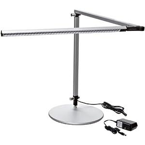 Koncept Ar3000 W Sil Dsk Z Bar Led Desk Lamp Warm Light
