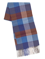 Blue Harbour Heritage Checked Fair Isle Scarf