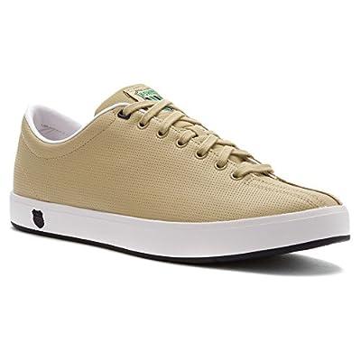 K-Swiss Men's Clean Classic Low Fashion Sneaker,Khaki,8.5 M US