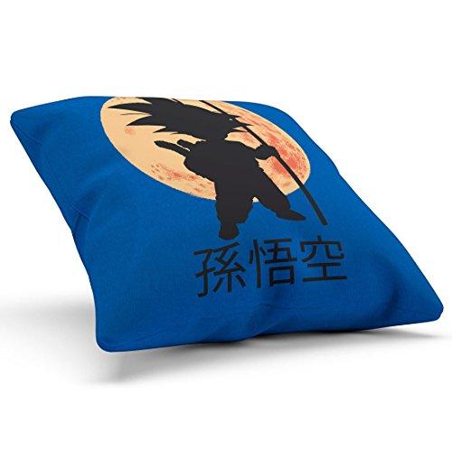 style3 Young Goku Kissen mit Füllung 28 x 28 cm Baumwollbezug, Farbe:Blau -