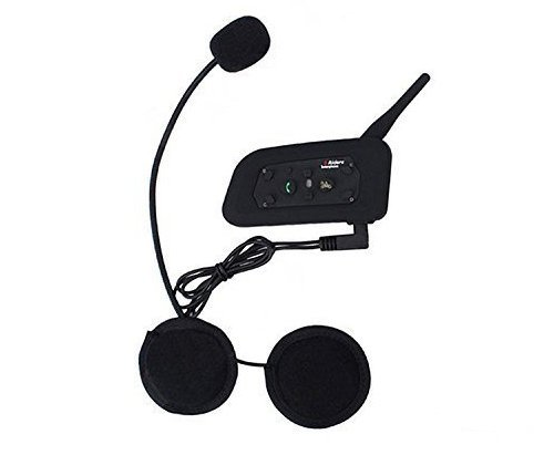 V6 BT Intercom Bluetooth Interphone 1200M Range 6 Riders Motorcycle Helmet Motorcycle Snowmobile Bluetooth Multi Interphone Headsets 6 Riders Intercom Bluetooth Interphone Kits for Helmet Motorcycle