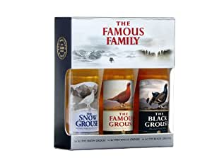 The Famous Family Mini Gift Set 3 x 5cl - The Snow Grouse, The Black Grouse and The Famous Grouse