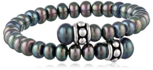Honora Pallini Black Freshwater Cultured Pearl Coi…