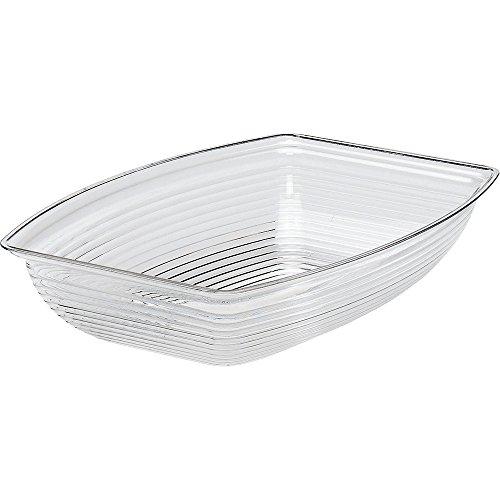 Camwear Bowl, Ribbed, Rectangular, 9 X 12-1/8'', 2.9 Qt. Capacity, Polycarbonate, Dishwasher Safe, (12 Pieces/Unit)