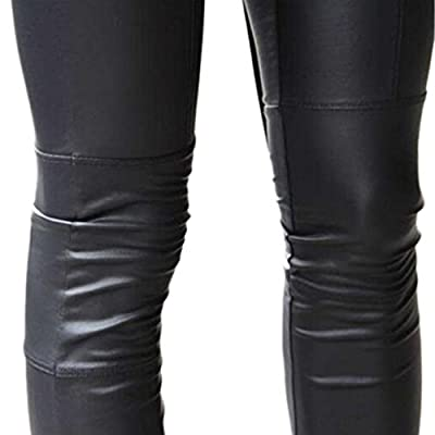 Awtang Women Sexy Faux Leather Tights Stretchy Joint Leggings Pants
