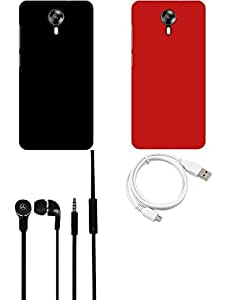 NIROSHA Cover Case Headphone USB Cable for Micromax Canvas Express 2 - Combo