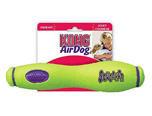Kong Air Dog Squeaker Stick Dog Toy, Large, Yellow
