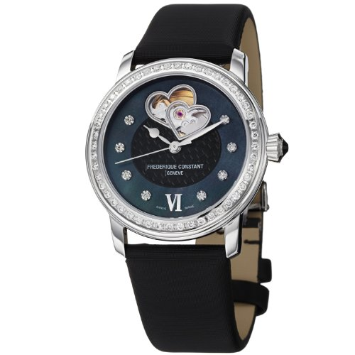 Frederique Constant Women's FC-310BDHB2PD6 LadiesAutomt Black Satin Watch
