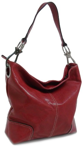 Bucket Hobo Handbag Purse (Red)