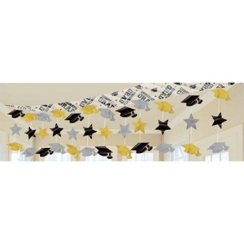 Black/Gold/Silver Graduation Ceiling Decoration