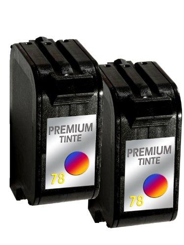 wiederbefüllte Druckerpatrone Drucker Patrone für 2x HP 78 Tintenpatrone DeskJet 952C, 955C, 959C, 960C, 960CSE, 960CXI, 970C, 970CSE, 970CXI