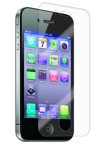 Iq Shield Liquidskin - Apple Iphone 4 Screen Protector With Lifetime Replacement Warranty - High Definition (Hd) Ultra Clear Phone Smart Film - Premium Protective Screen Guard - Extremely Smooth / Self-Healing / Bubble-Free Shield - Kit Comes In Frustrati