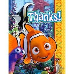 16 Ct. Finding Nemo Thank You Cards