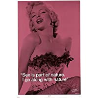 Marilyn Monroe-Bernard of Hollywood-Sex Quote, Movie Poster Print, 24 by 36-Inch from Pyramid America