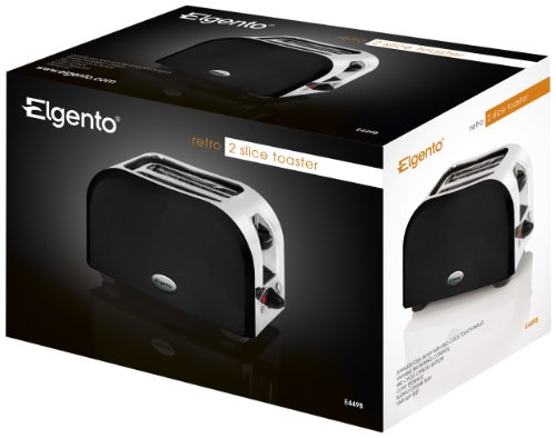 2 Slice Toaster 950W Black from Elgento