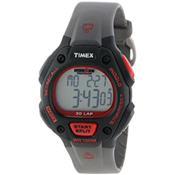 Timex Men's T5K7559J Ironman Traditional 30-Lap Black and Red Resin Strap Watch at Sears.com