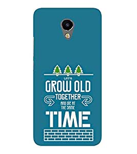 Die Grow Time Trees Cute Fashion 3D Hard Polycarbonate Designer Back Case Cover for Meizu M2 Note