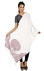 Anuze Fashions Jamawar Viscose Self Design Woolen Shawl's