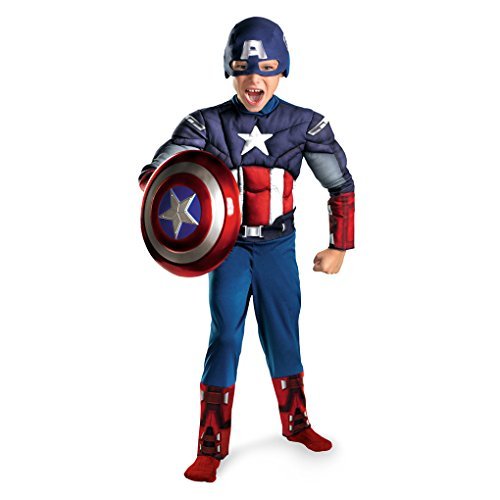 The Avengers Captain America Child Muscle Costume Size:Small