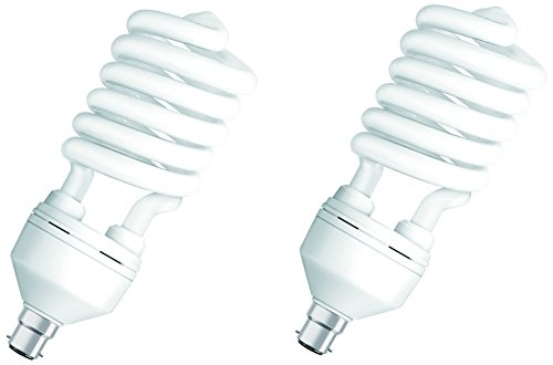 Osram 45 W Spiral B22D CFL Bulb (White, Pack of 2) Image