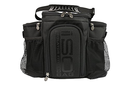Isobag 3 Meal Management System/Blackout Edition-Isolator Fitness-Lunch Bag/Insulated Lunch Box - 1