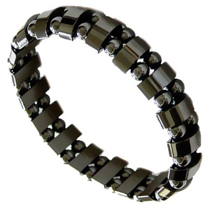 Men's Magnetic Hematite Fashion Bracelet – 8.5″