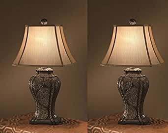 Tempura end table lamps living room bedroom family room for Living room end table lamps
