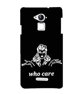 99Sublimation Who cares 3D Hard Polycarbonate Designer Back Case Cover for Coolpad Note 3